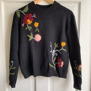Anthropologie - Monarch Embroidered Sweater